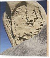 Limestone Rock Formation Wood Print
