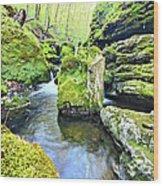 Limestone Waters Wood Print