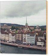 Limmatquai In Zurich Switzerland Wood Print