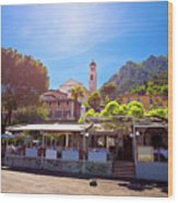 Limone Sul Garda Square And Church View Wood Print