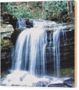 Lin Camp Branch Waterfall 1983 Wood Print