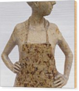 Lina the Ceramist Wood Print