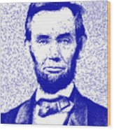 Lincoln Abstract Blue Wood Print