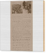 Lincoln And The Gettysburg Address Wood Print