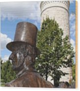 Lincoln At The Tower Wood Print