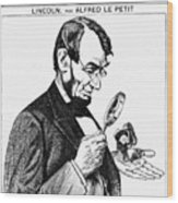Lincoln Cartoon, 1873 Wood Print