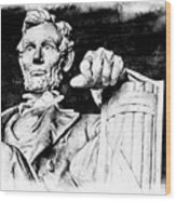 Lincoln Carved Wood Print