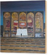 Lincoln Center Wood Print