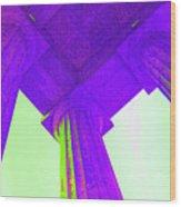 Lincoln Column Purple Wood Print