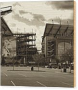 Lincoln Financial Field Wood Print by Jack Paolini
