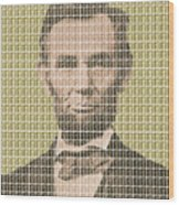 Lincoln - Gold Wood Print