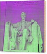 Lincoln In Purple Wood Print