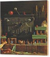 Lincoln Logs Wood Print