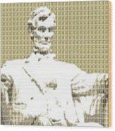 Lincoln Memorial - Gold Wood Print