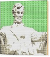 Lincoln Memorial - Green Wood Print
