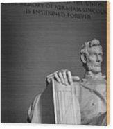 Lincoln Memorial In Washington Dc President Wood Print