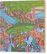 Lincoln Road Flea Market Wood Print