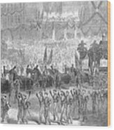 Lincolns Funeral, 1865 Wood Print