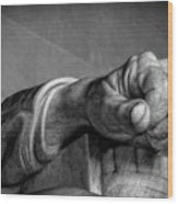Lincoln's Left Hand B-w Wood Print
