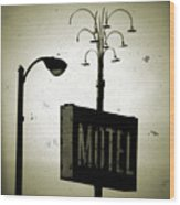 Lincolnwood Motel District Wood Print
