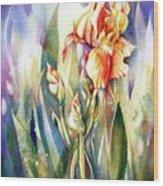 Linda's Iris Wood Print