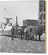 Lindbergh Parade, 1927 Wood Print