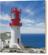 Lindesnes Lighthouse - Norway's Oldest Wood Print
