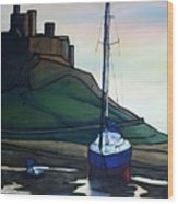 Lindisfarne At Low Tide. Wood Print
