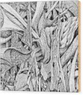 Line 2 Wood Print