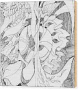 Line 4 Wood Print