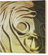 Line Coil Wood Print