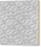 Linear Bulbs Pattern Whitesilver Black Wood Print