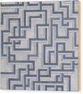 Linear Fermionic Transition Wood Print