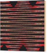 Linear Lesson In Black And Red Wood Print