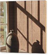 Linear Shadows Wood Print