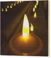 Lined Lights Wood Print