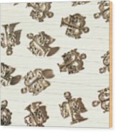 Lines Of Legalities Wood Print
