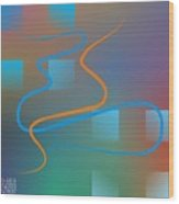 Linesoflife01 Wood Print