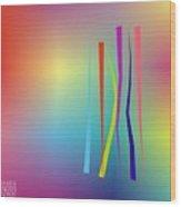 Linesoflife18 Wood Print