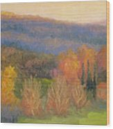 Lingering Light - Tuscany Wood Print