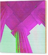 Linocln Column Pink Wood Print