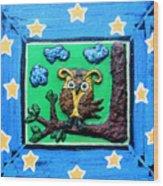 Lint Owl Wood Print