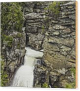 Linville Falls The Upper View Wood Print