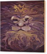 Lion Abstract Wood Print