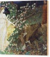 Lion Angel Wood Print