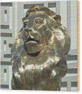 Lion At Mgm Wood Print
