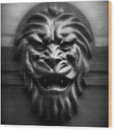 Lion Face Wood Print