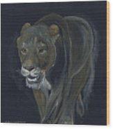 Lion Female Wood Print