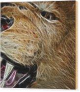 Lion Fractal Wood Print