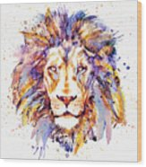 Lion Head Wood Print